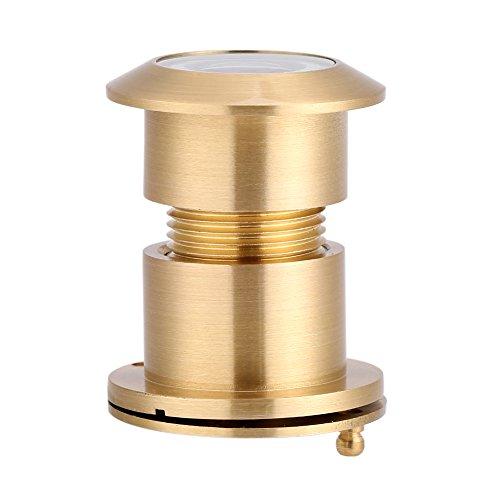 Türspion-Türspion-Sicherheits-Blickwinkel-Blickwinkel-Weitwinkel mit Hochleistungs-Privatlebenabdeckung für Haustür Home Office Hotel 28mm (Gold)