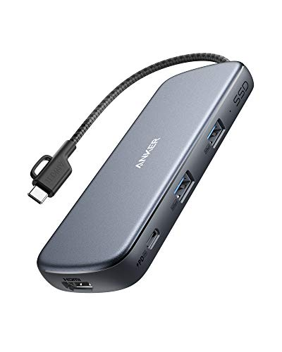 Anker PowerExpand 4-in-1 SSD USB-C Adapter, Hub mit 256G SSD Speicherplatz, 4K HDMI, 100W Power Delivery & 2 USB 3.0 Datenports, kompatibel mit MacBook Pro, MacBook Air, iPad Pro, XPS und mehr