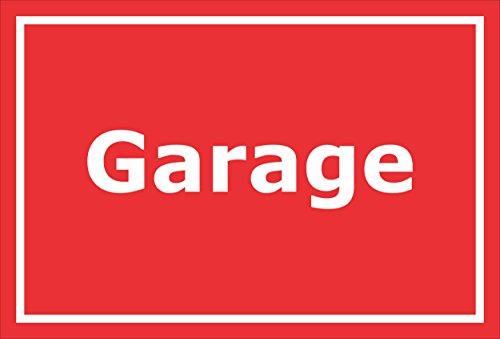 Schild - garage - 15x10cm, 30x20cm en 45x30cm - Boorgaten stickers hardschuim aluminium composiet S00278D