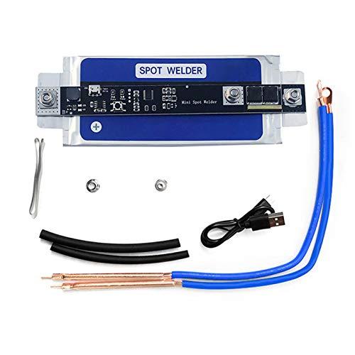 Soldador de puntos de batería, mini máquina de soldadura por puntos para 18650 batería DIY Spot Welding Tool Kits USB recargable
