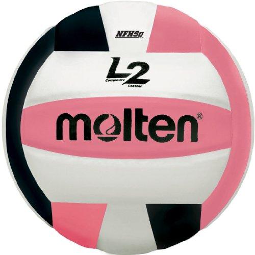 Molten Premium Competition L2Volleyball, NFHS zugelassen, Black/Pink/White