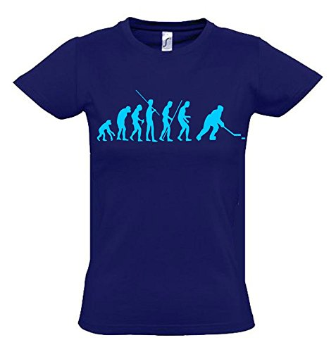 Eishockey Evolution Kinder T-Shirt Navy-Sky, Gr.164cm