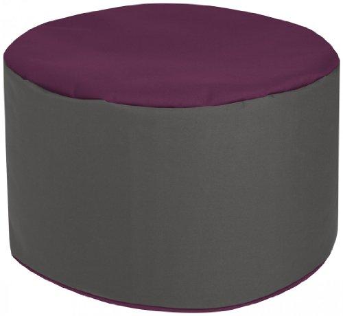 Sitting Point Repose Pieds DotCom Bebop Bicolore Aubergine
