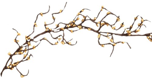CWI Gifts Wispy Pip Wrap Garland, 5-Feet, Old Gold