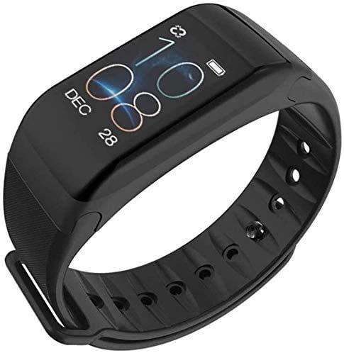 JIAJBG Fitness Tracker Smart Fitness Tracker Fitness Watch Pulsera Inteligente, Pulsera Inteligente Tracker Fitness Podómetro Call Reminder Band Sport Fitness Tracker Moda/Negro