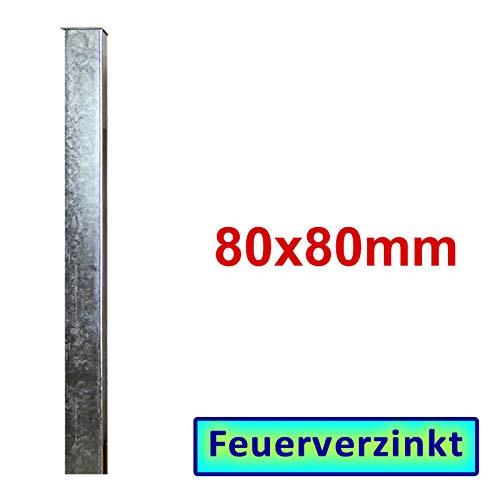 BAUER - Zaun- Torpfosten VZ, zum Einbetonieren, 80x80x3mm, L = 1900mm