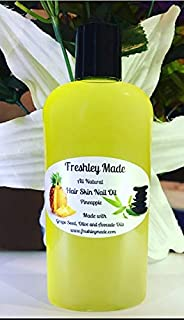 Freshley Made All Natural Hair Skin and Nail Oil (Pineapple)