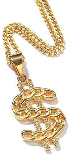 LKLFC Necklace Women Necklace Men Necklace Men Hip Hop Iced Out T Stainless Steel Necklaces Women Necklace Charm Jewelry Gifts Pendant Necklace Girls Boys Gift