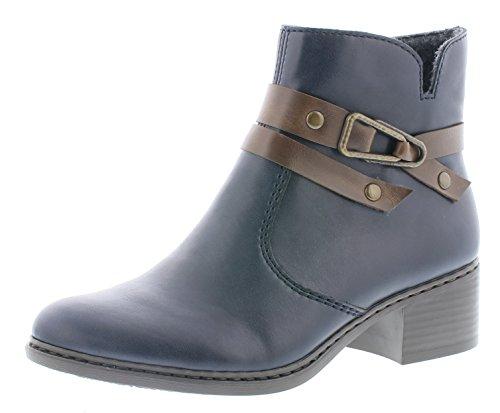 Rieker 77683, dameslaarzen laarzen, boot, halflaarzen, dameslaarzen, bootie, hoog, blokhak 4,3 cm