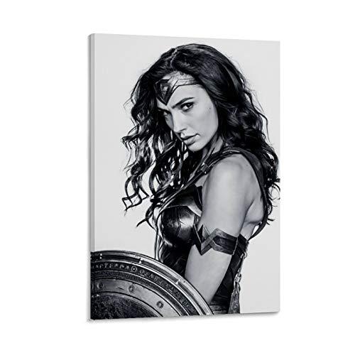 NUOMANAN Lienzo decorativo para pared, diseño de Wonder Woman de 1984, 40 x 60 cm, sin marco