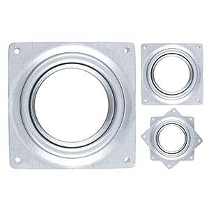 Hysagtek Lazy Susan Placa giratoria de rodamiento (3/4/6 Pulgadas), Capacidad de Carga de 100 – 250 Libras Hardware para (3 Piezas)