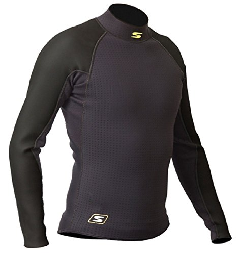 Sandiline Damen Herren Neopren Shirt langarm 1,5 mm Segeln Surfen, Größe:XL