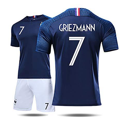 Unbekannt Französisches Trikot Herren- und Damenanzüge Weltmeisterschaft 2018 2 Sterne 10 Mbape 7 Grizzmann-Fußballuniform.-1-S