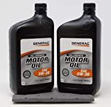Generac Full Synthetic Motor Oil 5W-30 SN Quart Bottle Part# 0J5140 (qt) 2-Pack
