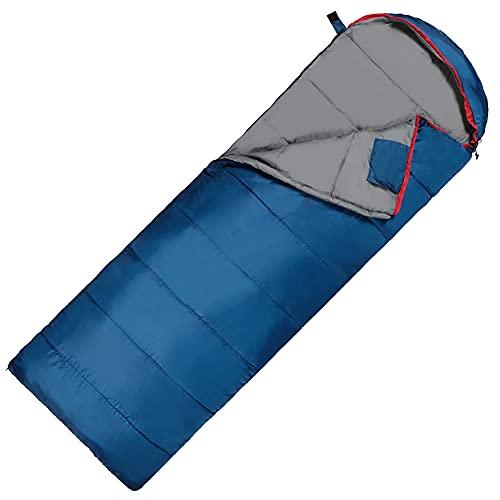 Saco de dormir ultraligero para tres estaciones, para camping, verano, momia, ligero, para exteriores, posibilidad de combinar 2 en 1 – 220 x 75 cm (azul marino – derecho)