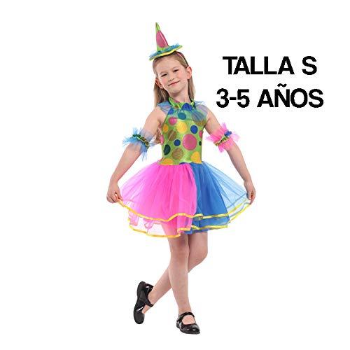 Krazy Toys Disfraz Arlequin Niña (3-5 años)