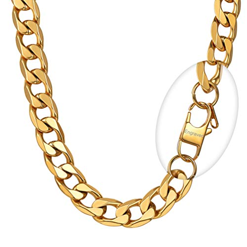 PROSTEEL Oversize Chunky Gold Chain Cuban Link Hiphop Rocker Biker Rapper Large Necklace Men
