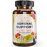 Adrenal Support & Cortisol Manager - Powerful Adrenal Fatigue Supplements for Stress Relief, Anxiety Relief, Focus Factor with Ashwagandha, Rhodiola Rosea, L Thyrosine, Holy Basil – 60 Non GMO Pills