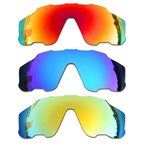 SOODASE Para Oakley Jawbreaker Gafas de sol Rojo/Azul/Dorado Lentes de repuesto polarizadas