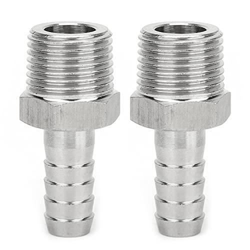 Okuyonic Conector de tubería BSPT de 1/2 pulg, Conexión de tubería, Buena estanqueidad, Acoplamiento rápido para Equipo neumático para Manguera(BSPT1/2-12mm)