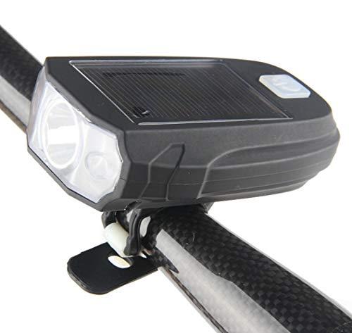 tangjiu Faro De Bicicleta,Luces De Bicicleta Solares, Faros De Bicicleta De Montaña USB, Linterna De Luces De Advertencia Led De Carga