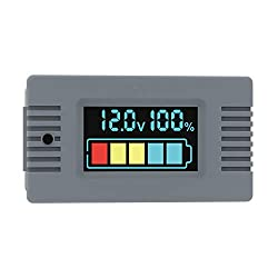 Morning Group DC Battery Monitor Capacity Tester Voltage 0-100V SOC LCD Lead-Acid Lithium Battery 3 in 1 Meter Backlight Control