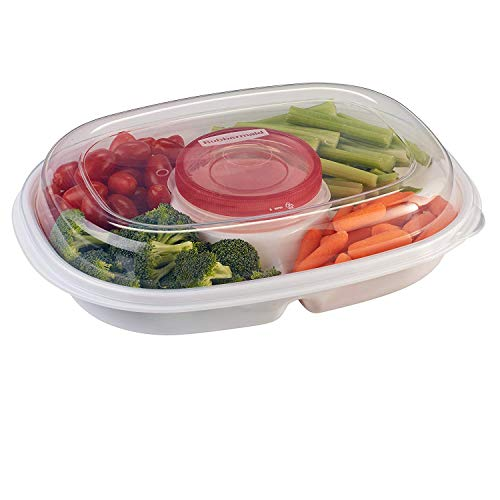 Rubbermaid - Party Platter, (Clear) (2-Pack)