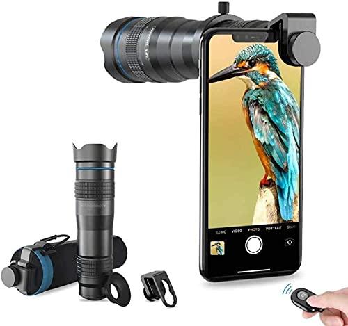 FHISD Lente telefoto HD Cell Phone Lens-60X para iPhone Samsung, Huawei, Xiaomi, teléfono Inteligente Android, telescopio monocular