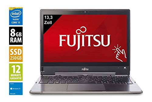 Fujitsu LifeBook T935 | Notebook | 13,3 Zoll | Core i7-5600U @ 2,6 GHz | 8GB RAM | 250GB SSD | FHD (1920x1080) | Touch | Webcam | Windows 10 Home (Zertifiziert und Generalüberholt)
