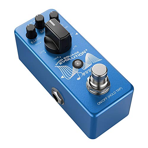 Donner Mini Digital Modulation Effektpedal 7 Modi, Mod Square Evolution Gitarre Effektpedal
