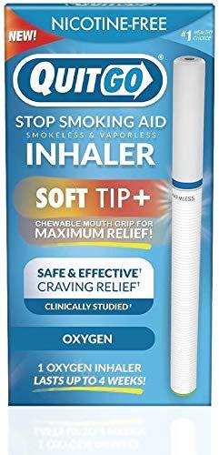 Raucherloser Inhalator mit weicher Spitze kaubarer Mundgriff für maximale Entlastung, orale Fixierung, klinisch studiert, Sauerstoffinhalator zum Abhören von Rauchen