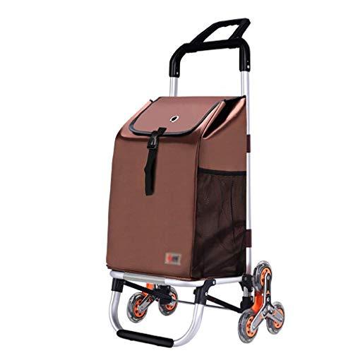 Z-SEAT Einkaufswagen Einkaufswagen Einkaufswagen aus Aluminiumlegierung, Kleiner Wagen zum Zusammenklappen eines tragbaren Anhängers, handgezeichneter Wagen mit sechs Räder