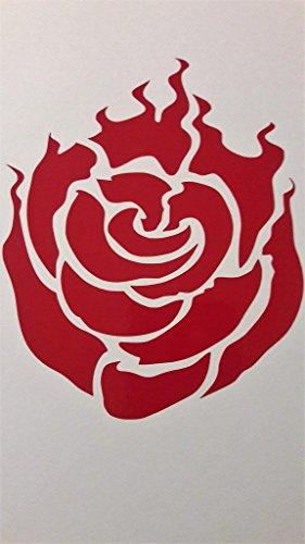 Chase Grace Studio RWBY Anime Ruby Rose Vinyl Decal Sticker|RED|Trucks Vans SUV Laptops Wall Art|5.25' X 4.5'|CGS624