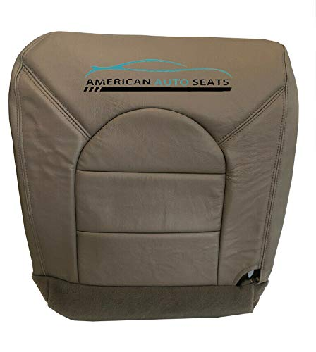 Us auto Upholstery compatible with 2000 Ford F250 F350 Lariat -Driver Side Bottom Leather Seat Cover Prairie Tan -  American Auto Seats, 99FOF250DRSIBOTAN14
