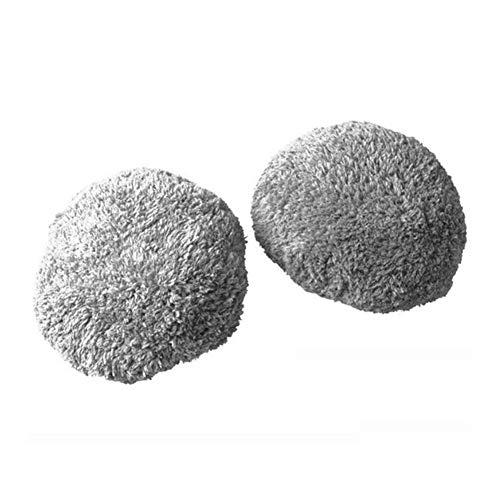 QIBIN Piezas de aspiradora aptas para 24 unidades por lote, mopa húmeda Robot168 188 para limpiar ventanas, trapeador y trapeador (color: gris) (color: gris)