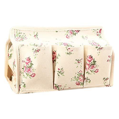 Caja de pañuelos de papel servilleta soporte rectangular caja de pañuelos conjunto caja de pañuelos de algodón cáñamo estilo pastoral multifuncional impermeable cajón de la caja de escritorio de la caja de almacenamiento de la cocina decoración