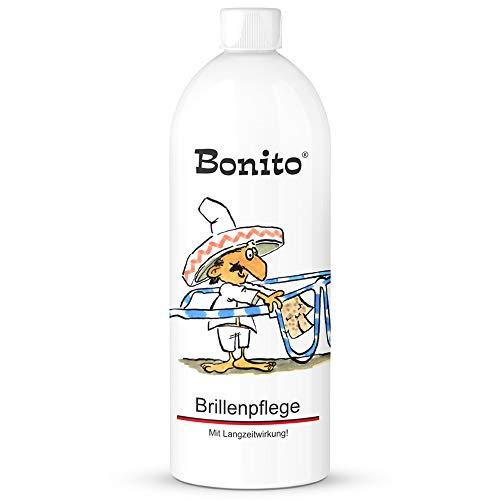 Bonito Brillenpflege 1 Liter | Brillenpflege mit Schutz | geeignet für alle Arten von Brillengläsern | mit Antistatik-/ & Antibeschlag-Effekt | verhindert Spannungsrisse