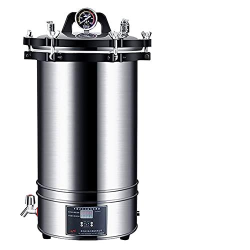 Digitaler Autoklav 18 / 24L Hochdruck-Dampfsterilisator Sterilisationstopf mit LCD-Display Einstellbare Temperatur und Zeit für Labor/Gesundheitswesen/Restaurant