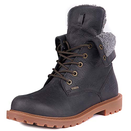 Barbour Womens Hamsterly Roll Top Ankle Winter Fleece Waterproof Boot - Graphite - 9.5