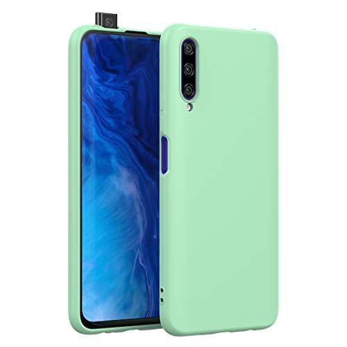 CRESEE für Huawei P Smart Pro/Honor 9X Pro Hülle Hülle, Silikon Handyhülle mit Faser-Futter Anti-Scratch Dünn Schutzhülle Stoßfest Fall für P Smart Pro/Honor 9X Pro (Grün)