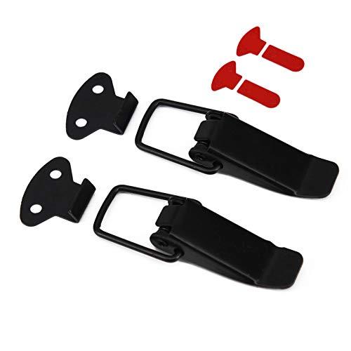 MoreChioce - 2 clips universales para parachoques de coche, cierre rápido, cierre de hebilla para parachoques, portones traseras, tapas de escotilla para coche, camión, capó de liberación rápida