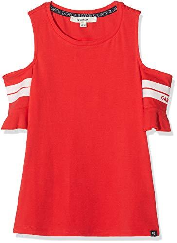 Garcia Kids Mädchen A92403 T-Shirt, Rot (Tomato Red 2648), 152 (Herstellergröße: 152/158)