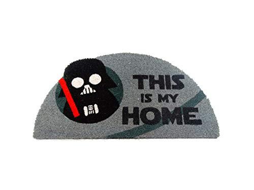 KOOK TIME Koko Doormats Felpudo semicircular de Star Wars para Entrada de Casa This is my Home Original y Divertido/Fibra Natural de Coco con Base de PVC, 40x70 cm