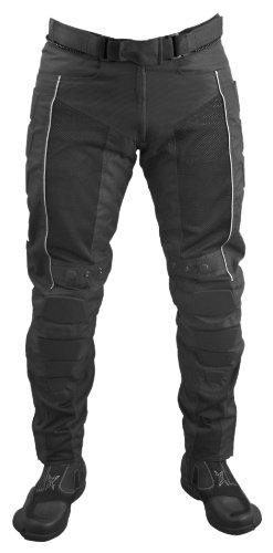 Roleff Pantalones para Motorista Racewear, Negro, XXL