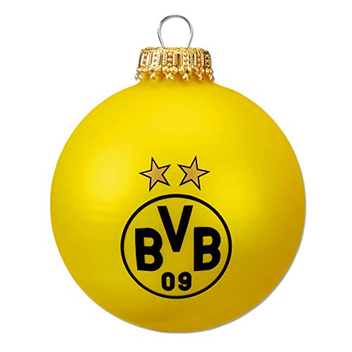 Borussia Dortmund BVB Christmas Tree Balls Black Yellow (Set of 4)