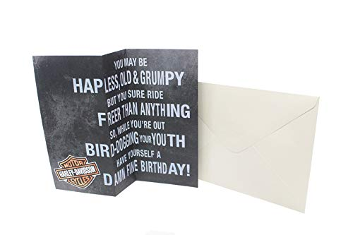 Harley-Davidson Happy F-ing Birthday Accordion Folded Greeting Card HDL-20064