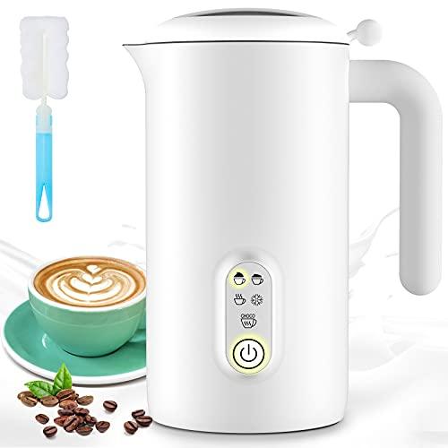 QUARED Montalatte Elettrico 500ML, 5 in 1 Montalatte Automatico con Funzionalità per Latte Caldo e Freddo, Automatico off, Rivestimento Antiaderante, Perfetto per Cioccolata Calda, caffè, Cappuccino