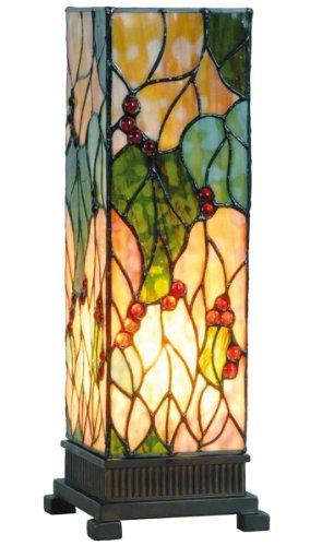 Lumilamp 5LL-9235 Tischleuchte Tischlampe Tiffany Stil 12.5 * 35 cm 1x E14 max 40w dekoratives buntglas handgefertigt glasschirm