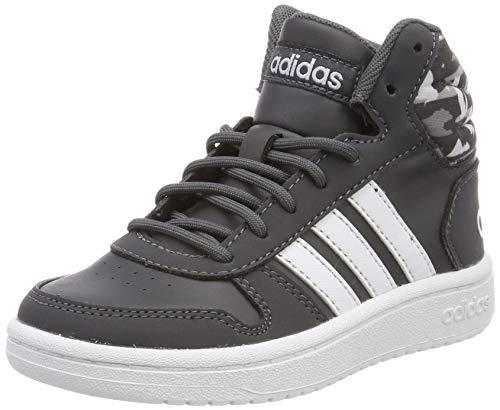 Adidas Hoops Mid 2.0 K, Zapatillas de Deporte Niños Unisex niño, Multicolor (Grisei/Ftwbla/Aeroaz 000), 33.5 EU