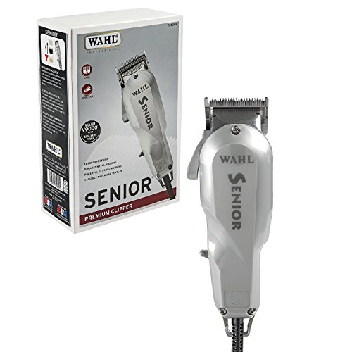 Wahl Professional Senior Clipper for Heavy Duty Cutting, Tapering, Fading and Blending - The Original Electromagnetic Clipper with an Ultra Powerful V9000 Motor for Barbers and Stylists - Model 8500